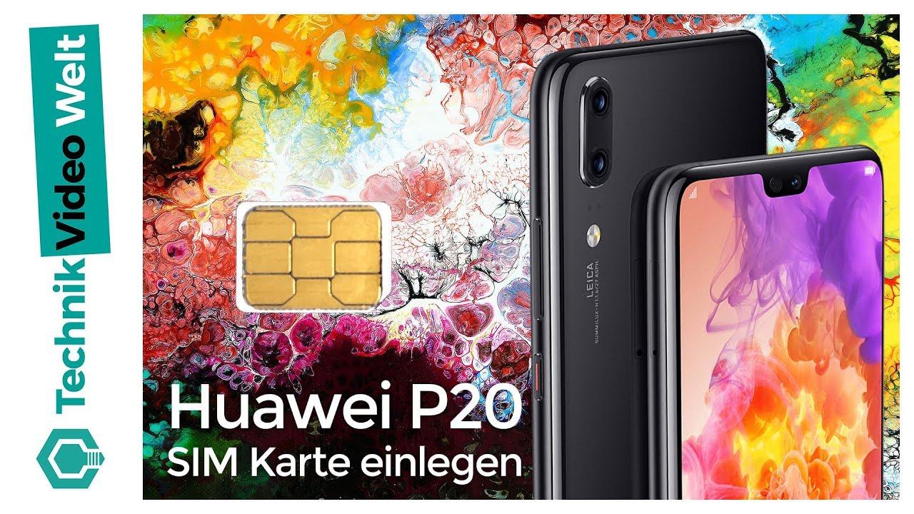 huawei p20 sim karte einlegen Huawei P20 (Pro) SIM Karte einlegen   YouTube