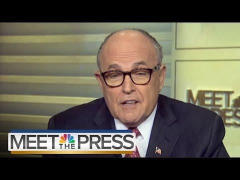 Giuliani Addresses 'Black On Black Crime' | Meet The Press