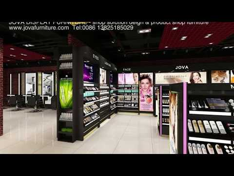 Cosmetic Store Display Furniture, 3D Cosmetic Store Design