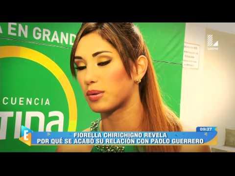 Fiorella Chirichigno sobre Paolo Guerrero: 'Me pidió borrar las fotos'