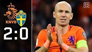 Robben alleine reicht für Wunder nicht: Niederlande – Schweden 2:0 | Highlights | WM-Quali | DAZN
