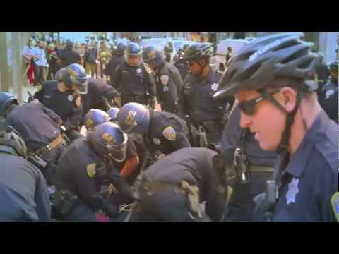 San Francisco Police beat and arrest Demonstrators @ Anti Capitalist/ Anti Colonial March