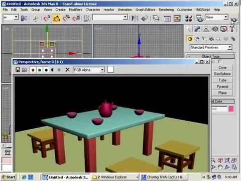 Video học 3D MAX  Bài 1 - Vẻ bộ bàn ghế