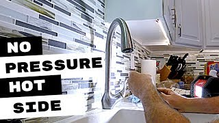 Kitchen Faucet Has No Water Pressure Hot Side Youtube