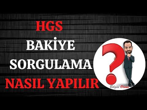 HGS BAKİYE SORGULAMA - NASIL YAPILIR - E DEVLET