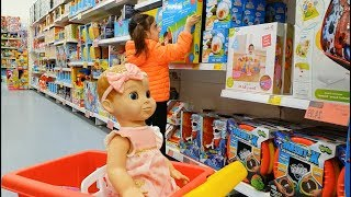 🌸Buying Toys with My Baby Doll