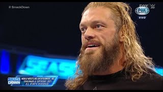 Edge attacks Seth Rollins and challenges for the Hell in a Cell - WWE Smackdown 10/8/21