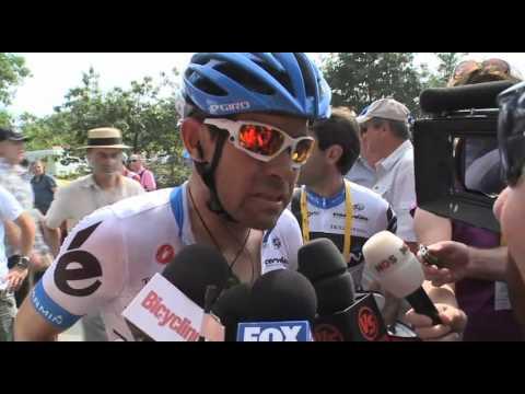 2011 Tour de France stage 3 - Julian Dean straight after finish