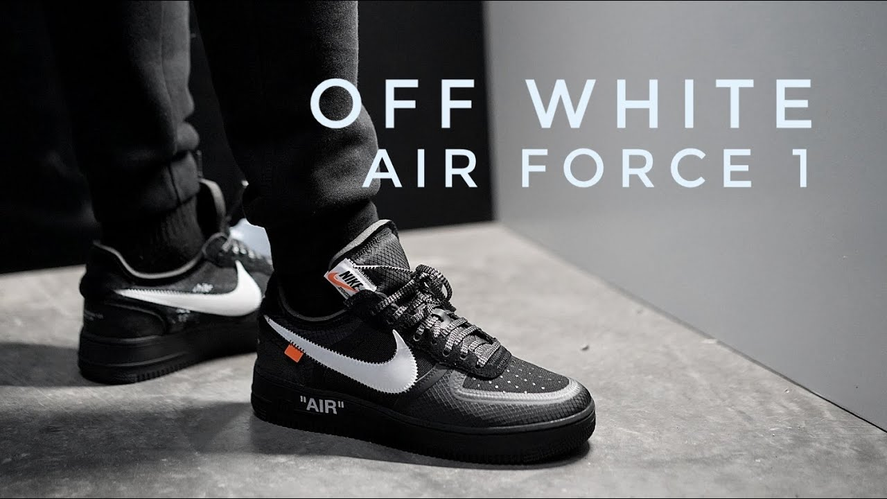 Off White Air Force 1 Black On Foot Review Youtube