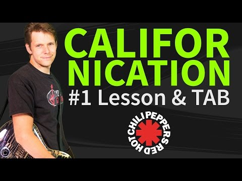 How To Play Californication Guitar Lesson & TAB - Red Hot Chili Peppers