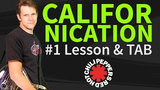 Guitar Lesson & TAB: Californication - Red Hot Chili Peppers - How to play Intro&Verse