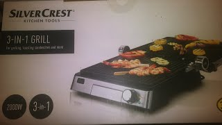 Silvercrest 3 In 1 Grill 2000w Youtube