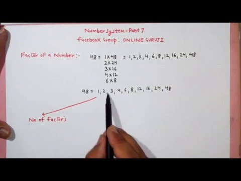 SSC CGL Number System Part 7 (factors Concepts)