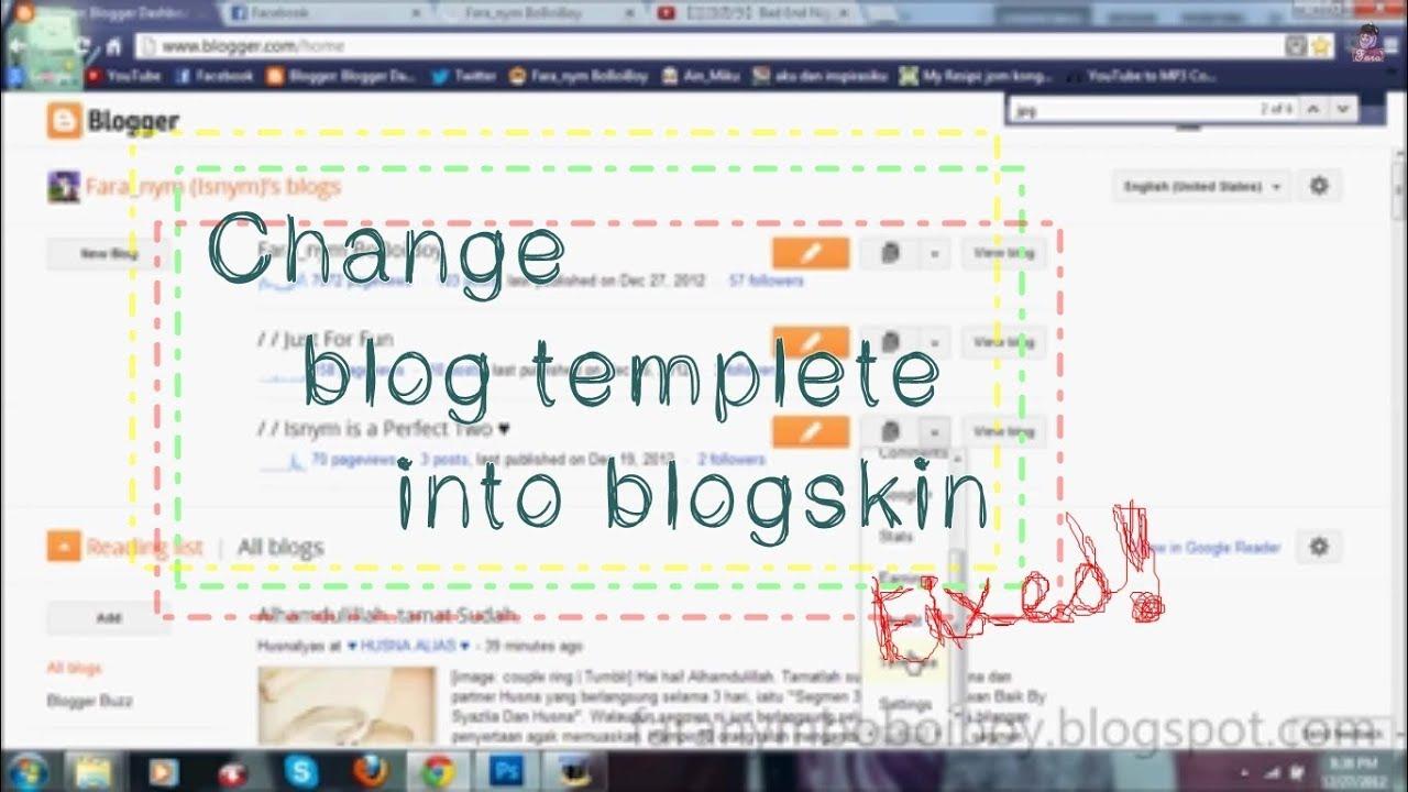 Blog tutorial: cara tukar template blog (blogspot) ~ qiya saad.