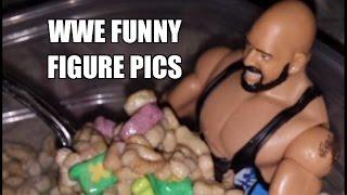 WWE FUNNY FIGURE PICS! Mattel Elite and Jakks Wrestling Figures Toy Poses Review