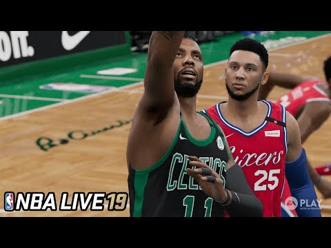 EARLY NBA LIVE 19 GAMEPLAY! Kyrie Irving Between The Legs Dribble Combos - 5v5 Play Now Mode