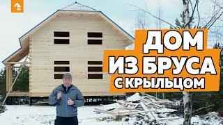 видео Деревянный дом 5х9 с четырьмя фронтонами