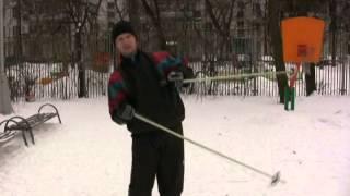 Фото Торможение падением на лыжах