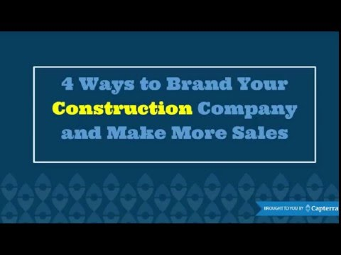 4 Ways To Brand Your Construction Company and Make More Sales | Presentation