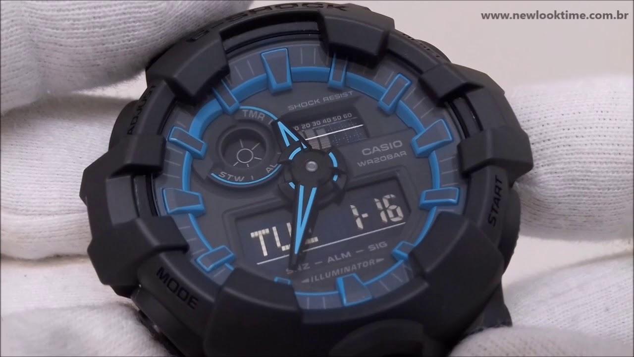 1ce1ba0b2c5 Relógio G-Shock GA-700SE-1A2 - New Look Time Relógios - YouTube