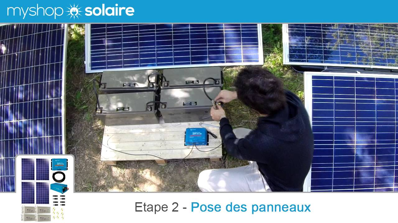 MyShop Solaire   Montage Du0027un Kit Solaire 1000W Autonome 24V +  Convertisseur 230V   YouTube Inspirations De Conception