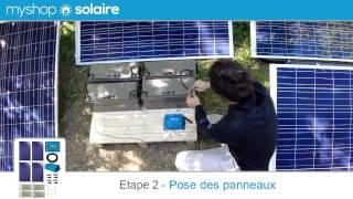 MyShop Solaire - Montage d'un kit solaire 1000W autonome 24V + Convertisseur 230V