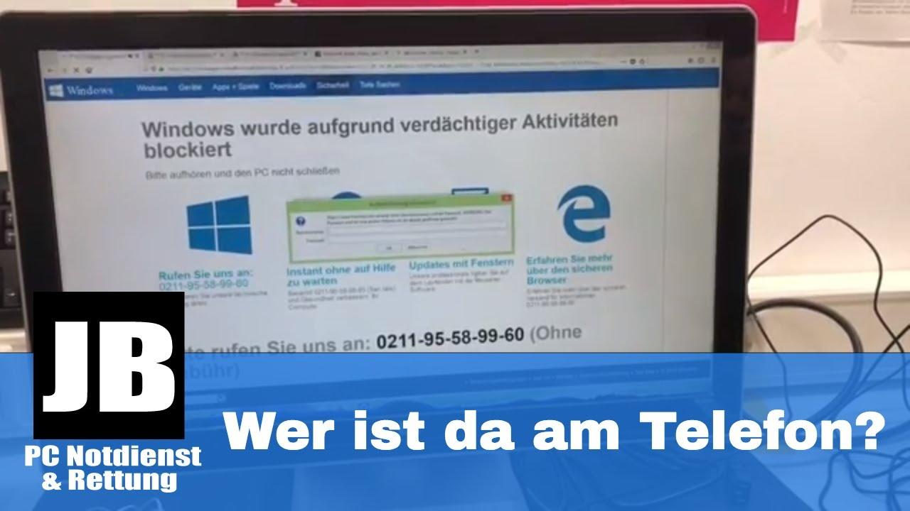 Windows Wurde Aufgrund Verdächtiger Aktivitäten Blockiert Schließen