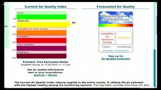 Spokane air quality sitting at moderate, could reach unhealthy level
