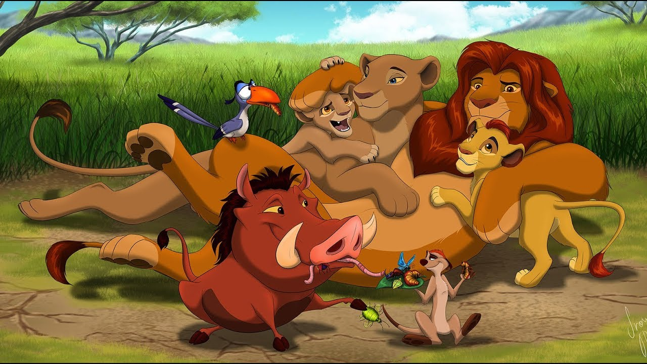 Walt Disney The Lion King We Are Family Speed Painting Digital Art