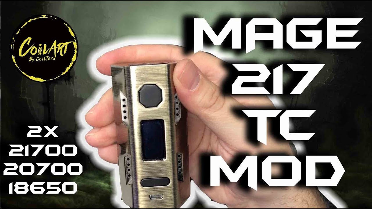 Dual 21700/20700/18650 MAGE 217 TC Mod by CoilArt!