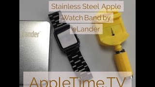 Review, 42mm Space Grey Stainless Steel Apple Watch Band by eLander