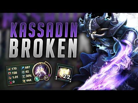 HOW BROKEN DO THESE NEW BUFFS MAKE KASSADIN?! FULL AP KASSADIN CARRY - League of Legends Gameplay