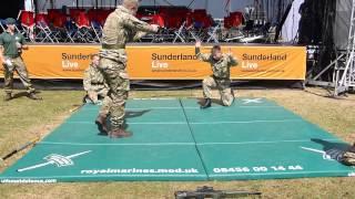 Royal Marines Unarmed Commando Display Team (Sunderland International Airshow 2013)