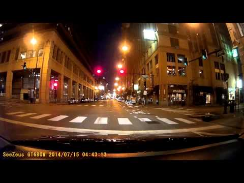 Early Morning Chicago Driving SUMMER - GT680W DASH CAM - CHICAGO DOWNTOWN & NORTHSIDE