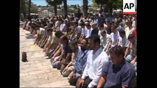 WRAP Palestinians in Friday prayers at Al-Aqsa Mosque; pro-Hezbollah demo