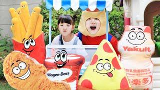 뭐든지 크게 변하는 서프라이즈 매직 푸드!!! Surprise Magic Food Store Story with Toys - 마슈토이 Mashu ToysReview