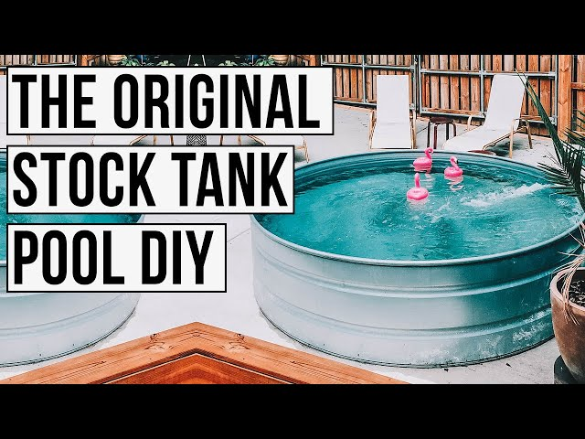 THE ORIGINAL Stock Tank Pool DIY - YouTube