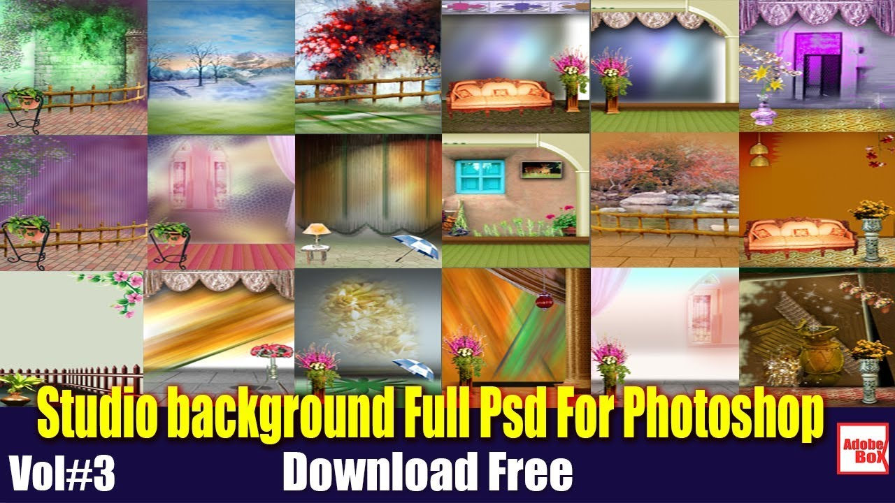 Studio Background Full Psd For Photoshop Free Download Vol3 By