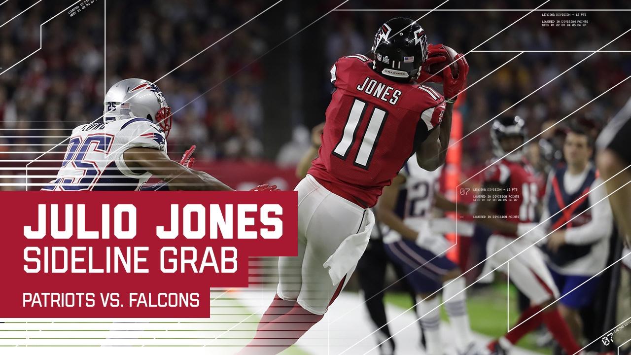 Julio Jones Makes Amazing Sideline Snag Patriots Vs Falcons Super Bowl Li Highlights Youtube