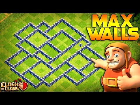 MAX WALLS!  TH12 Farm To Max   Clash Of Clans