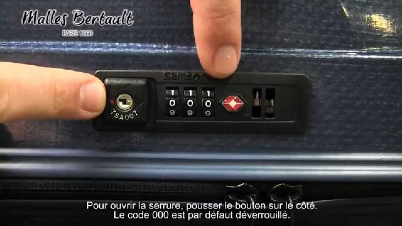 tutoriel valise samsonite gamme cosmolite youtube. Black Bedroom Furniture Sets. Home Design Ideas