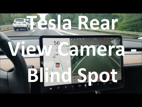 Using Your Tesla Rearview Camera to see cars in your Blind Spot
