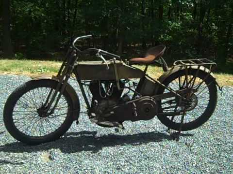 Buzz Kanter 1915 Harley Motorcycle Cannonball