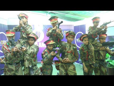 Naara E Takbeer Allah o Akbar   Pak army Tablo by DMG School Kids