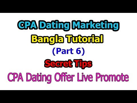 CPA Dating Offer Live Promote | Part 6 | Secret Tips | Bangla Tutorial