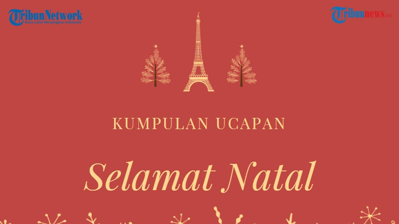 Kumpulan Kata Kata Ucapan Selamat Natal 2020 Dalam Bahasa Indonesia Inggris Youtube