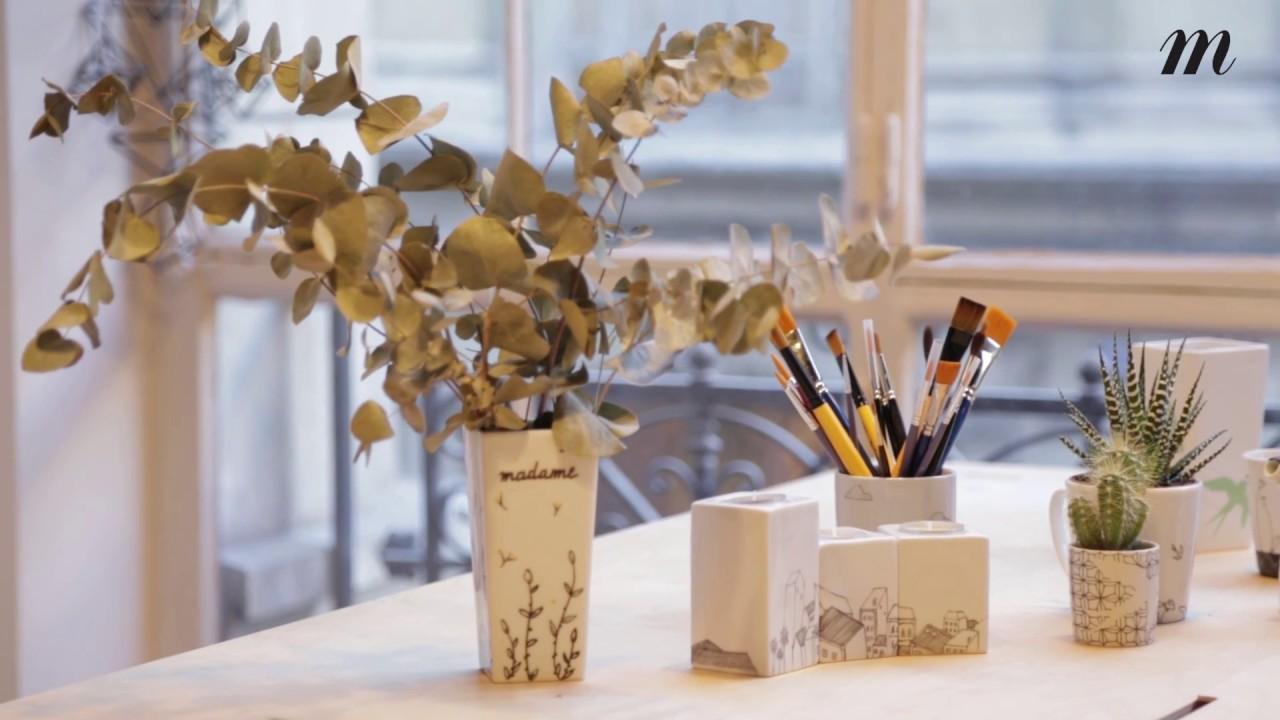 Tuto Peinture Sur Porcelaine tutoriel : comment personnaliser un vase en porcelaine blanche