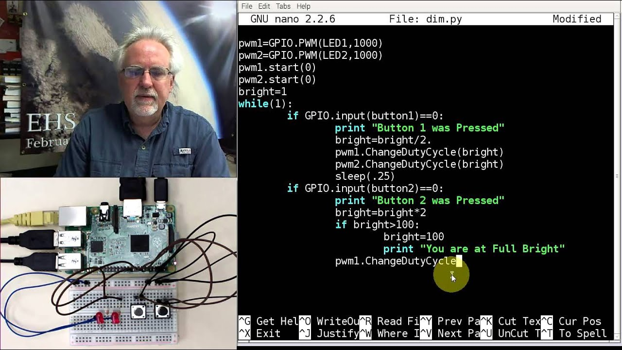 Raspberry Pi LESSON 31: Creating a Dimable LED Using Python