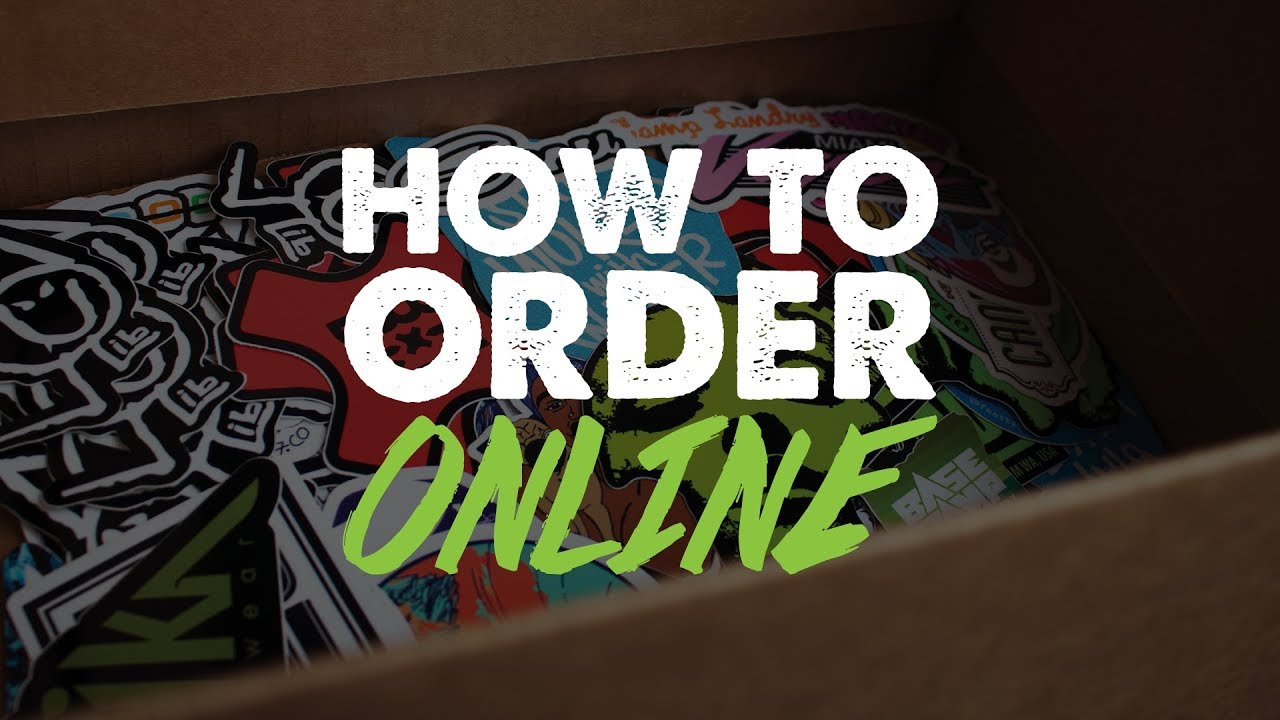 How to order custom stickers online
