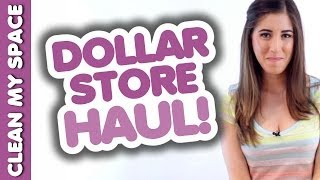 Dollar Store Haul! (Cleaning Products) Shopping Tips for Staying Clean on a Budget: Clean My Space Thumbnail